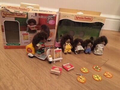 Sylvanian Families Pizza Delivery Set with Hedgehog Family