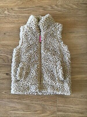 Mini Boden Girls Cosy Lamby Fleece Gilet Bodywarmer Lined Age 3-4 Years