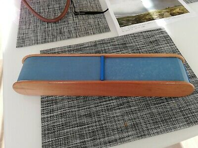 rare vintage wooden roll top knitting needle box with needles