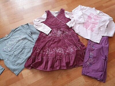 Girls clothes bundle age 4-5 years dress, top, trousers