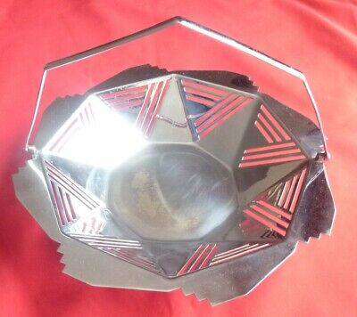 Art Deco, Chrome-plated Cake tray / Fruit bowl