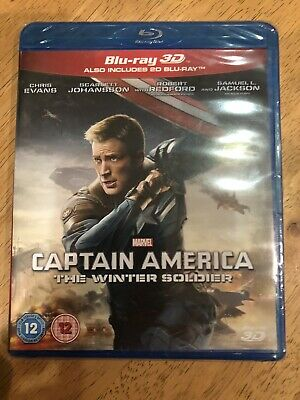 Captain America The Winter Soldier (Blu-ray 3D + 2D) Marvel Brand New & Sealed