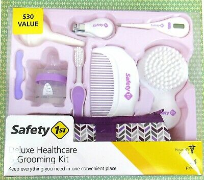 New Safety 1st Deluxe Healthcare & Grooming Kit 24 Piece Kit Baby Infant Purple