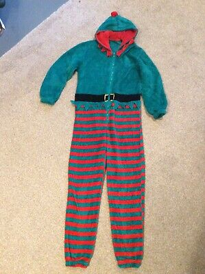 Children's Christmas Elf All In One Age 9-10 Years