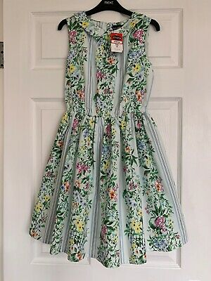 New With Tag Beautiful Girls Miss CG Dress Floral Print Full Skirt Age 10