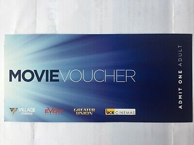 Village Event Greater Union Cinemas (E-Mail) Movie Voucher Pack of 10