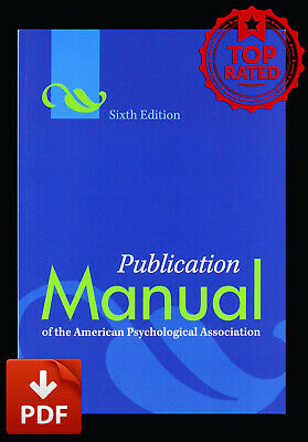 Publication Manual of the American Psychological Association 6th Ed✅ 🔥[P.D.F]🔥