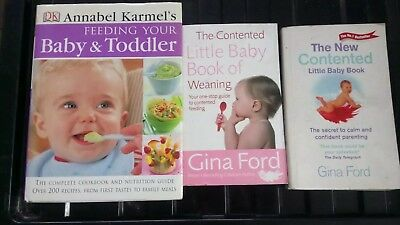 Gina Ford Contented Little Baby & Annabel Karmel's Feeding Baby & Toddler Books