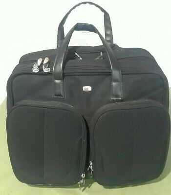 "WENGER SWISS GEAR Rolling Carry-On Computer 17"" Laptop Briefcase Day Bag"