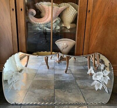 Pretty Vintage Deco Wall Mirror