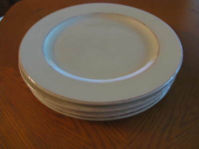 """4 Dinner Plates Handpainted Earthenware by Pier 1 Italy TOSCANA IVORY 11"""""""