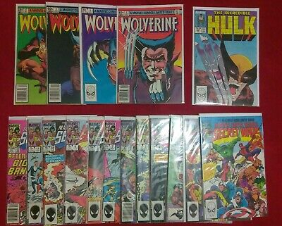 Secret Wars 1-12,Wolverine 1-4,Hulk 340 20 book set GRAB BAG/CHASE READ FIRST