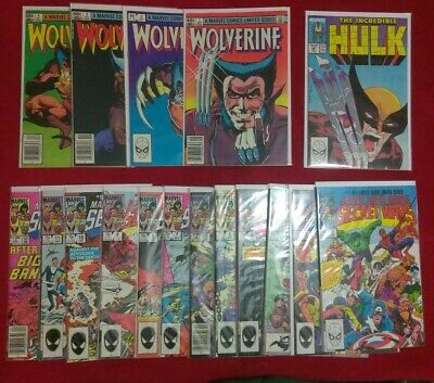 Secret Wars 1-12,Wolverine 1-4,Hulk 340 10 book set GRAB BAG/CHASE READ FIRST