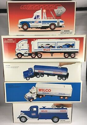 Lot Of 5 Vintage Wilco Banks + Vehicles - Toy Banks Racers Rescue Mib