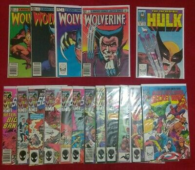 Secret Wars 1-12,Wolverine 1-4,Hulk 340 5 book set GRAB BAG/CHASE READ FIRST