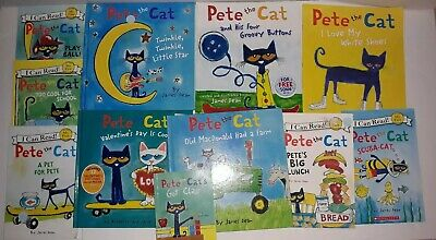 Lot of 11...PETE THE CAT... Children Books...4 HARDCOVER & 7 PAPERBACK