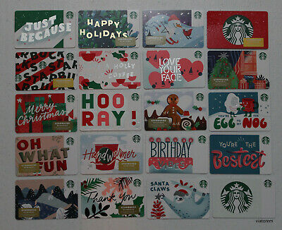 Starbucks Card 2019 Christmas Holiday 55 cards (1 duplicate)