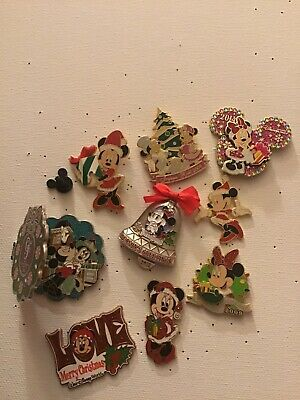Disney Holiday Christmas Minnie Mouse Pin Lot LE OE Paris gingerbread