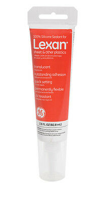 GE Silicone Lexan Sealant Clear 2.8 oz
