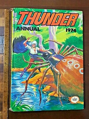 Vintage 1974 Thunder War Sci-Fi Fantasy Adventure Comic Story Book Annual Hb Uk!