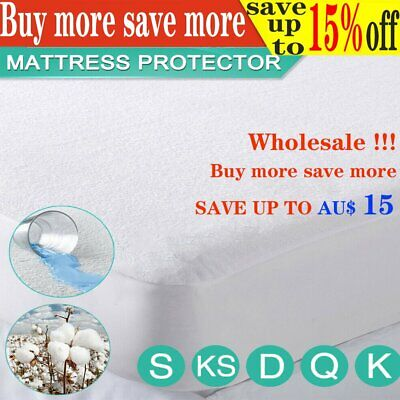 Wholesale!Fully Fitted Terry Cotton Waterproof Mattress Protector Bed Soft Cove