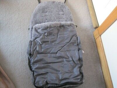John Lewis Sheepskin Shearling Foot Muff Pram Liner Grey 2 of 2 RRP £130