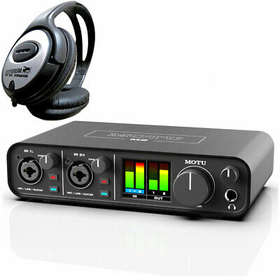 MOTU M2 USB 2-Kanal Audio-Interface + keepdrum Kopfhörer