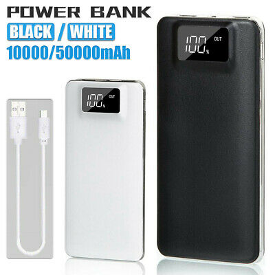 Power Bank 50000mAh External Dual USB Battery Charger For Mobile Phone Portable