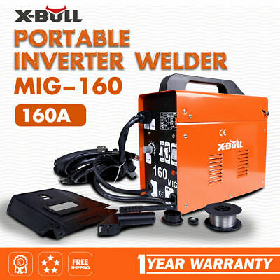 X-BULL Welder 160Amp MIG ARC Welding Machine Gasless Portable