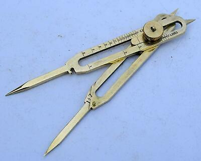 """Solid Brass Divider Drafting Proportional Tool 6"""" Navigational Compass Caliper"""