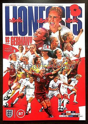 England Lionesses V Germany Women 2019  Official Programme 09/11/19