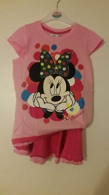 minnie mouse 2 piece outfit girls 6 years of age l,pink