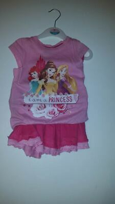 princess 2 piece outfit girls 2 years of age l,pink