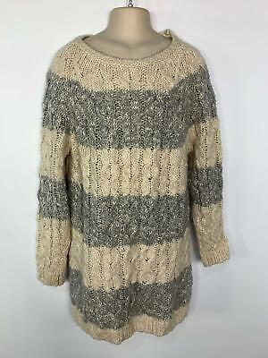 Girls Marks&Spencer Cream/Grey Casual Jumper Sweater Top Kids Age 11/12 Years