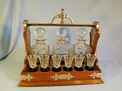 Superb & Unusual 19c French Tantalus/Glasses Stand.