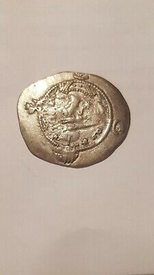 Silver Drachm Sassanian Hormazd IV 6th C. AD