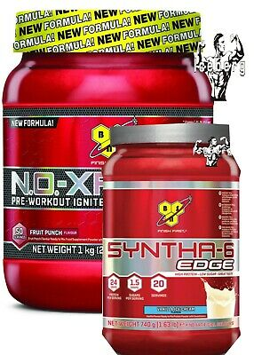 BSN STACK DEAL!Syntha 6 Edge Whey 780g & 1kg BSN NO XPLODE 50 Servings Offer!