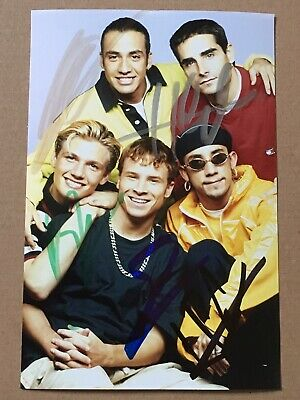 Backstreet Boys Hand Signed Original Autograph Photo *OFFERS WELCOME* BSB