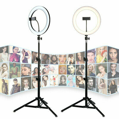 """14""""Dimmable 12W LED Video Ring Light Studio Selfie Makeup + 1.68M Lighting Stand"""