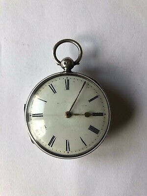 Solid Silver English Fusee Lever Pocket Watch London 1849