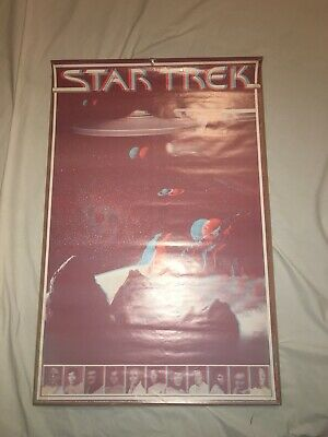 Vintage Star Trek The Motion Picture 1979 2 Sided 3D Poster