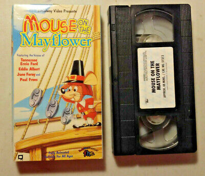 VHSZ1 Mouse on the Mayflower Rankin Bass Thanksgiving Tennessee Ernie Ford f.h.e