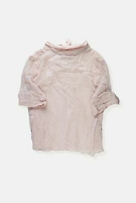 Womens Maison De Nîmes Pink Silver Sparkly High Neck Bow Back Layered Blouse ...