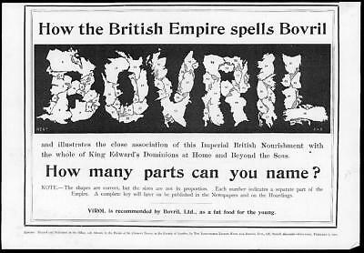 1902 Antique Print Advertisement  - Bovril British Empire Edward King  (93)