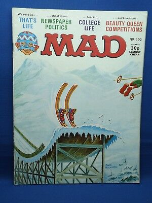 Mad Magazine UK Monthly # 192 April 1978