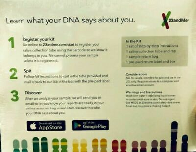 New 23andMe DNA Test Ancestry Saliva Collection Kit Expires: 05/2021