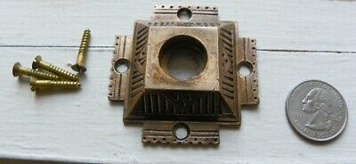 Vintage Antique Victorian Eastlake, Door Bell Doorbell Cover, Brass