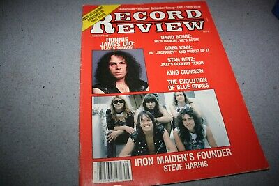 Record Review August 1983  -  Dio / Iron Maiden Cover