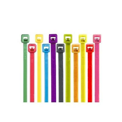 """Colored Cable Ties, 40#, 5 1/2"""", Blue, 1000/Custodia"""