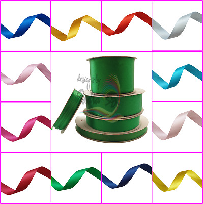 High Quality Satin Ribbon Width Variety of Colour Christmas Weddings Birthdays